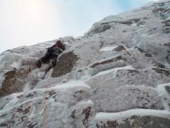Christian Türk climbing Gargoyle Wall