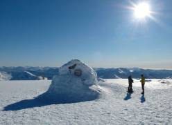 The bivouac on the summit of Ben Nevis