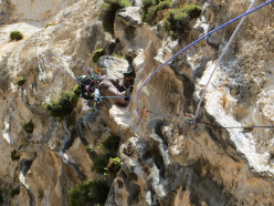 Gianni Canale on the final tufas of pitch 3