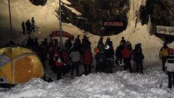 Area di scalata dove il team di istruttori del Cai Cuneo dava assistenza ai neofiti dell'ice climbing