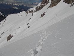 Pendii solivi sotto cresta con neve faticosa!