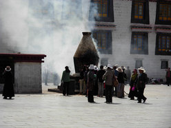 Pellegrini a Lhasa