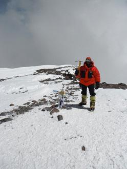 Danilo Callegari in cima al Aconcagua