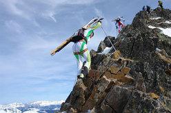 In cresta verso il Grand Mont, terza tappa della Pierra 2008
