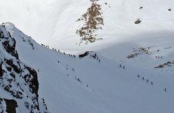 All'inizio della cresta del Grand Mont