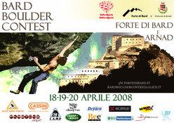 Il Bard Boulder Contest 2008 - Raduno internazionale d'arrampicata boulder ad Arnad e Bard, 18-19-20 aprile 2008.