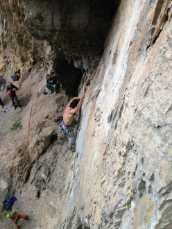 Adriano Trombetta climbing Bordo proibito