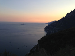 Sunset from Selva towards Capri