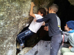 Small boulderers in action!