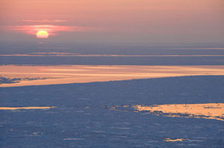 Drift ice in the land of the rising sun.