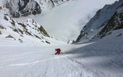08/05/2013: Davide Capozzi, Julien Herry md Luca Rolli, NE couloir, Col Armand Charlet.