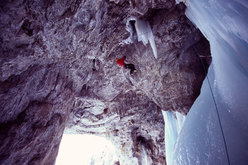 Ines Papert sale Into the Wild, M12, WI 5+, Icefall Brooks Canyon, Canada