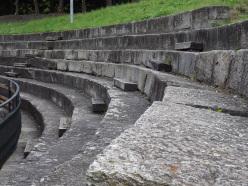 Particolare del teatro Romanico di Susa
