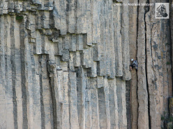 The famous basalt Arpa Gorge in Armenia where climbing has now been banned.