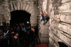 Streetboulder notturno al Forte della Tagliata della Scala
