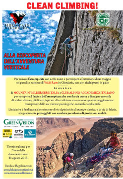 Un'iniziativa Mountain Wilderness Italia e Club Alpino Accademico Italiano