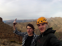 In April 2013 Roland Hemetzberger and Fabian Hagenauer  made the first ascent of Tabula Rasa (250m,8b) on the Paroi de la Cascade, Taghia, Morocco.