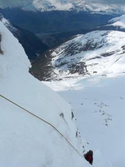 Su Ghost Face, parete Nord Est dello Hubshorn (3192m, Alpi Pennine)