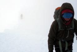In cima: Ghost Face, parete Nord Est dello Hubshorn (3192m, Alpi Pennine)