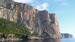 Monte Santu, Baunei, Sardinia. Two new routes by Larcher & Oviglia and Giupponi & Sartori
