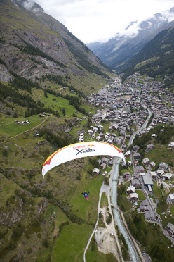 Durante il Red Bull X-Alps 2011