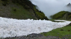 The 1/06/2013 avalanche close to Höttinger Alm above Innsbruck (Austria).