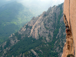 Climbing up Jeef (Punta U Corbu, Bavella, Corsica)