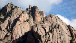 Sulla via Jeef (Punta U Corbu, Bavella, Corsica)