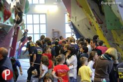 Un momento della tappa del del Salewa RockShow 2013 che si è disputata il 20 aprile nella palestra il.PUNTO di Borgo San Dalmazzo (CN).