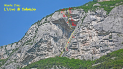L'uovo di Colombo, new route on Monte Cimo