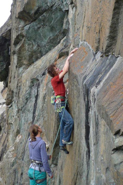 Adam Ondra in Valmalenco at Garides