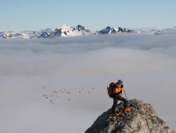 Svalbard: sci alpinismo a Gashamna - Hornsund, Carlo Gabasio in vetta