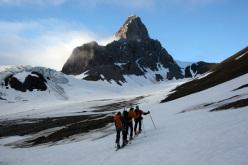 Svalbard: sci alpinismo a Gashamna - Hornsund  I. Svalbard, Carlo Gabasio in vetta
