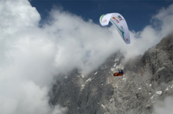Shoichiro Tadano (JPN2)  during the second day of the Red Bull X-Alps 2013