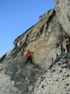 Tooth Traverse: On of the more technical pitches climbing up from Espresso Gap