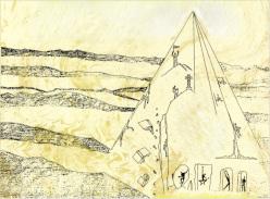"""Disegno """"La Montagna delle Illusioni"""" di Ivan Guerini, 1993"""