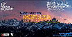 Night walk with Massimo Borgatti and concert at dawn with the Piccola Bottega Baltazar at Rifugio Gallo Cedrone.