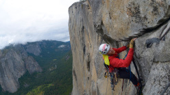 Steve Bate soloing the route Zodiac, El Capitan, Yosemite