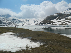 SuperAlp 7, between Gran Paradiso and Mont Avic: Lac Miserin