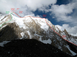 Broad Peak and the Iranian route up to Camp 3