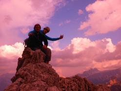 Via Lisetta, Col dei Bos, Dolomiti: Giacomo Duzzi e Andrea Simonini in cima