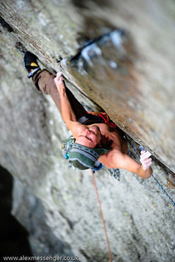 Strawberries E6 6b , Tremadog, Wales