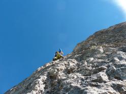 Pilastro Girasole: l'arrampicata
