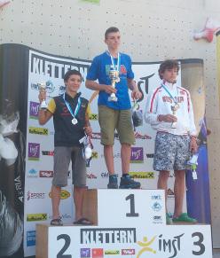 Male youth B lead : Sascha Lehmann SUI, Stefano Carnati ITA, Anton Sviridov RUS
