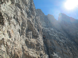 Via Gianni Ribaldone: searching for a climbable line