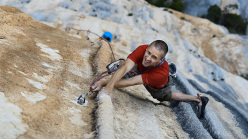 Steve McClure flashing Tom et Je Ris 8b+, Verdon