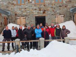 Il gruppo di docenti ed allievi dellla seconda edizione del Master di Medicina di montagna all'Istituto Mosso al Col D'Olen.