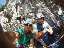 Via Bonatti at Croz del Rifugio: Edoardo Falletta and Andrea Roche