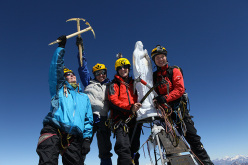 Svetlana Smaikina, Olga Gorodesetskaia, Anna Torretta e Natalia Prilpskaia in vetta al Gran Paradiso