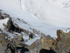 Matteo Donati risale il 7c+ in cima alla Giordani